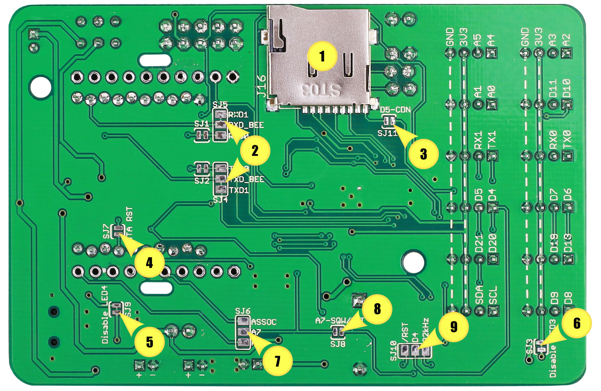Mbili Sodaq Support Mega Relay Board Wiring Diagram 1 The Most Significant Change On Back Side Of Is That Inclusion A Microsd Card Slot Extra Memory And Program Space